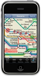 Barcelona Metro iPhone App