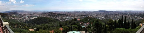 A panoramic view of Barcelona from Tibidabo