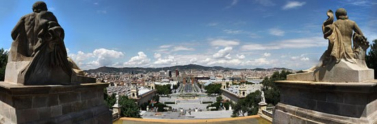 photo of Barcelona from Palau Nacional