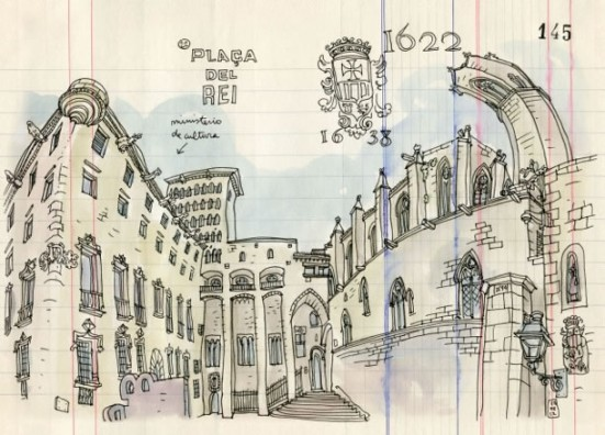 Illustration of Plaça del Rei