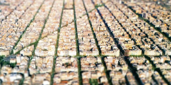 Eixample, Barcelona tilt shift photo