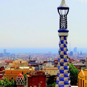 photo of the city from Park Güell