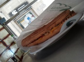 Sausage sandwich at Conesa