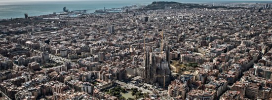 aerial photo of the Sagrada Família