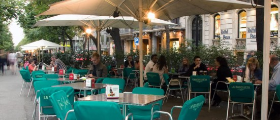 photo of the terrace at La Bodegueta