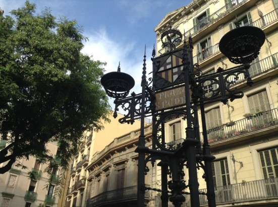 photo of the lamppost in Plaça de Sant Pere
