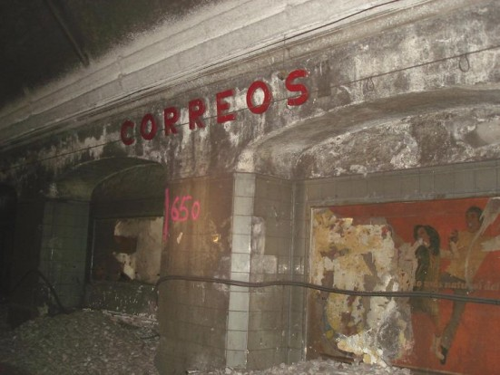 photo of the closed Correos station