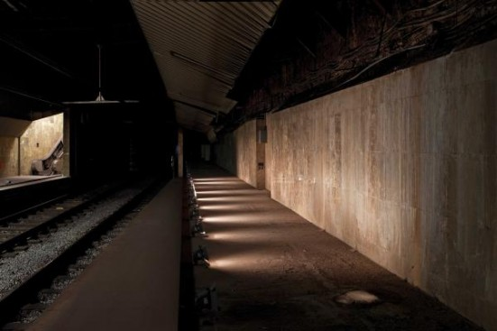 photo of the closed Gaudí station