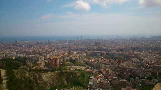 photo of the view from Turó de la Rovira