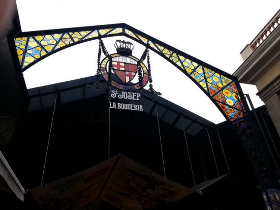 the entrance to La Boqueria