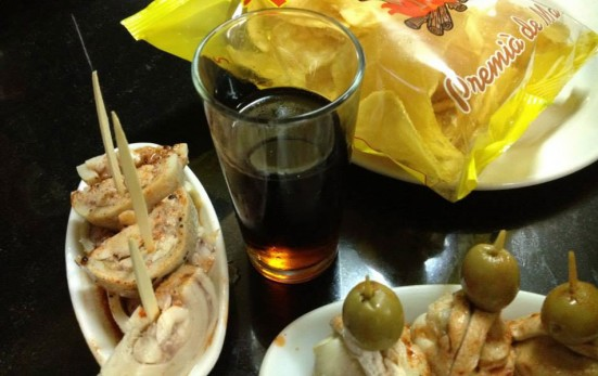 photo of vermut and nibbles