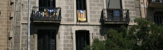 Catalan National Flags in Barcelona