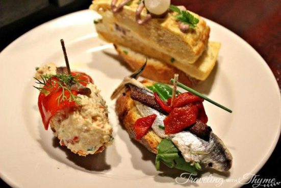 Plate of pintxos