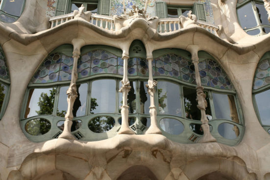 The outside of Casa Batlló