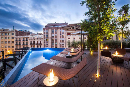 The roof terrace at the OD Barcelona