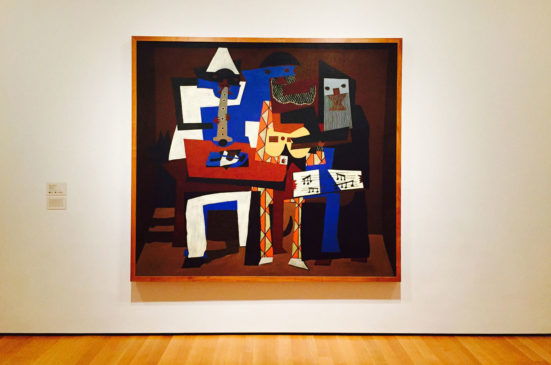 A painting inside the Picasso Museum