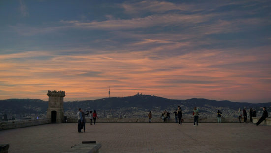 photo from the top of Montjuïc castle