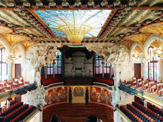 Inside the Palau de la Música Catalana